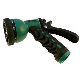 Hose Nozzle Pistol Super Sprayer- Auto Shut-off, Green, 9 Position,lawn & Garden Outdoor Water Saver, Conserve