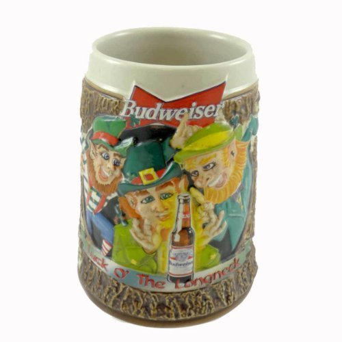 anheuser-busch-1997-st-patricks-day-stein-cs287-irish-bud-budweiser-leprechaun-by-unknown