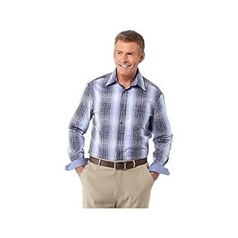 Bugatchi Mens Classic Blue Woven Shirt