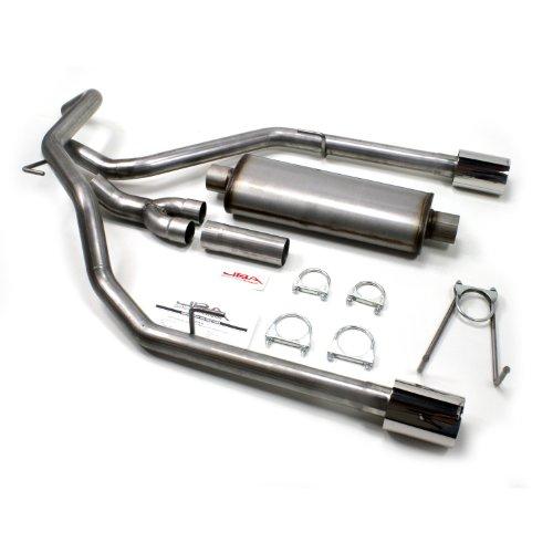 09-15 Dodge Ram Truck Mandrel Dual Exhaust Kit Flowmaster 40 Muffler Chrome Tips