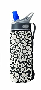 CamelBak Insulated Bottle Sleeve (Black/White Floral, .75 Litre/24 -Ounce)