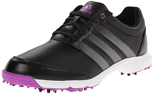 adidas Women's W Response Light Golf Shoe, Core Black/Iron Metallic/Flash Pink, 8.5 M US