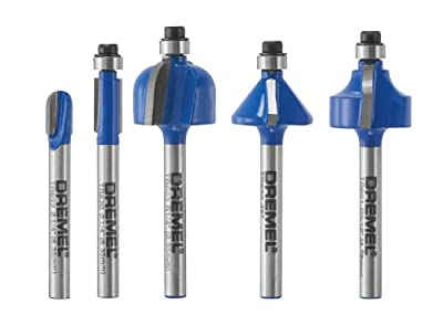 Dremel TR770 5-Piece Edging Router Bit Kit by Dremel
