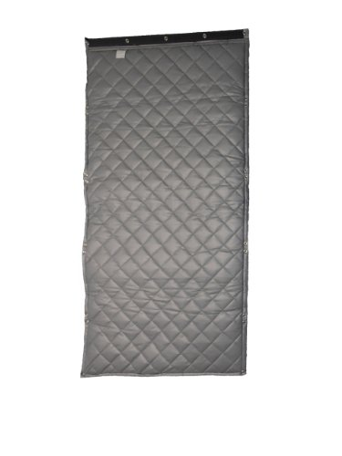 """Singer Safety Sc125 Double Faced Quilted Fiberglass Panel With Grommets And 1 Lbs/Sqft Barrier Septum, 4' Width X 6' Height X 2"""" Thick"""