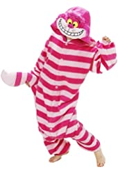 Superlieu Cheshire Cat Kigurumi Pajamas Anime Costume