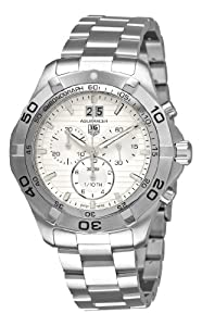 TAG Heuer Men's CAF101F.BA0821 Aquaracer Quartz Silver Chronograph Dial Watch
