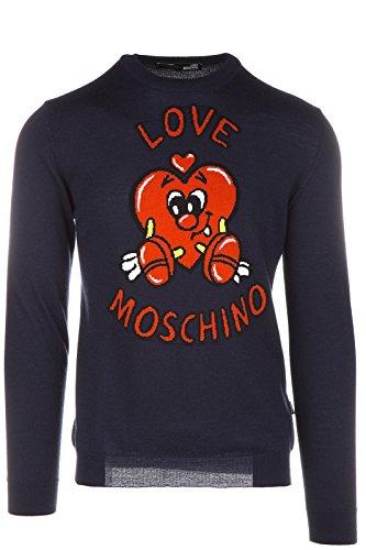 Love Moschino maglione maglia uomo girocollo blu EU M (UK 38) M S 3U3 00 X 0478 40