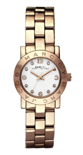 Marc Jacobs Mini Amy White Dial Rose Gold-tone