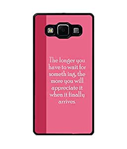 Fuson Premium Wait Is Fruitful Metal Printed with Hard Plastic Back Case Cover for Samsung Galaxy A7