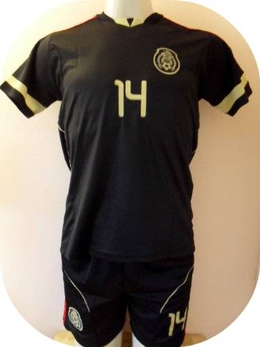 MEXICO # 14 CHICHARITO AWAY SOCCER KIDS SET JERSEY AND SHORT SIZE 24 .NEW