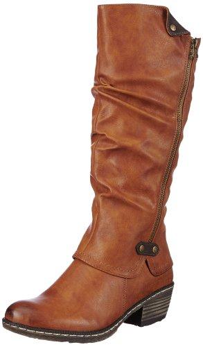 Rieker 93755 - Stivali da Cowboy Donna, Marrone (cayenne/schoko / 24), 37 EU