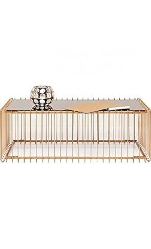 Kare Design–Tavolino 115cm Rame e specchio WIRE