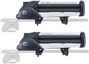 カーメイト(CARMATE) スキー/スノーボードアタッチメント デュアルアングルシングル ブラック×シルバー IN932