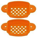 シリコン製 餅焼きトレー 2個入OWN COLOR オウンカラー オレンジ