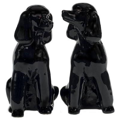 Quail Ceramics - Black Poodle Salt And Pepper Pots by Quail Ceramics
