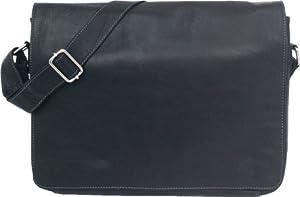 Unicorn Real Leather Black 169 Laptop Bag Messenger 1l