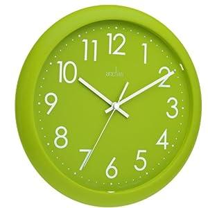 Large Rectangular Wall Clock Acctim 21895 Abingdon Wall Clock, Lime Green: Amazon.co.uk ...