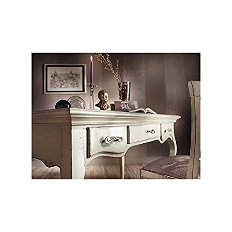 Table Desk Writing Table Solid Wood with Antique White – As Photos