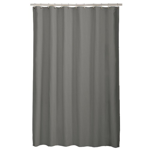 Maytex Mills Norwich Embossed Microfiber Shower Curtain Liner Grey Shower