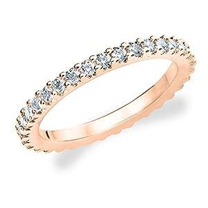 14K Rose Gold Diamond Knife Edge Eternity Band (.50 cttw, H-I Color, I1-I2 Clarity) Size 9.5