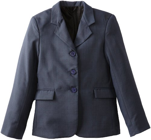 Tuffrider Girl'S Devon Show Coat, Plaid, 10 front-659325