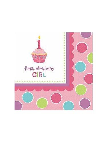 Amscan Sweet Little Cupcake Girl Luncheon Napkins - 36 ct - 1