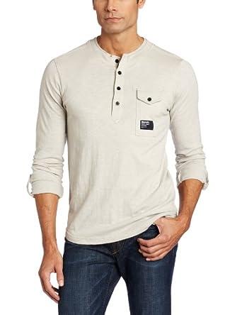 Bench Men's Interim Light Weight Jersey Long Sleeve Shirt, Dove, XX-Large