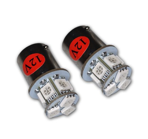 TuningPros LEDTL-1156-RS9 Tail Light LED Light Bulbs 1156, 9 SMD LED Red 2-pc Set (2008 Bmw X5 Taillight compare prices)