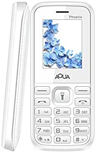 Aqua Phoenix Dual SIM Basic Mobile Phone White