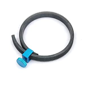 Fotasy GGU Rubber Flexible Gearbelt for 15mm Rod DSLR Follow Focus (Blue)