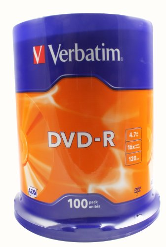 Verbatim 100 x DVD-R 4,7 Go 16x Argent mat Spindle dans actualitas presse 41EhbE%2BXLSL