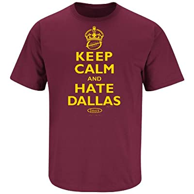 Washington Redskins Fans. Keep Calm and Hate Dallas Maroon T-Shirt (S-5X)