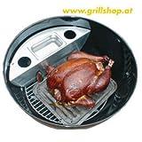 Smoker für Weber u. Outdoorchef Holzkohlegriller mit 57 cm Durchmesser