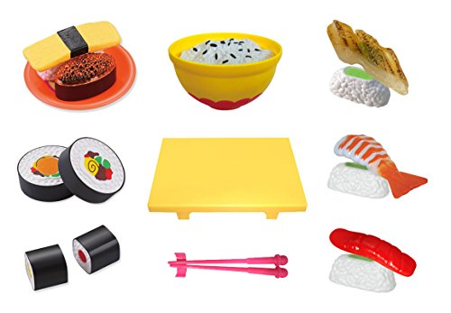 Liberty Imports Kitchen Fun Sushi Dinner Cutting Food Playset for Kids