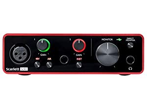Focusrite Scarlett Solo (G3) with Dynamic Microphone, Headphones, and Boom Arm