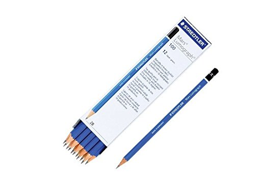 2b-staedtler-mars-lumograph-drawing-sketching-pencil-12-pieces