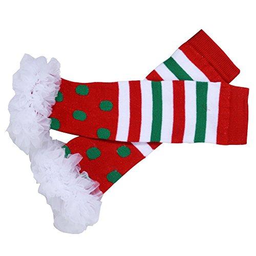 ANDI ROSE Baby-Girls Christmas TUTU Dress|Baby Bloomer|Hat Hairpin(4pcs) (Size S(0-3Months), Red)