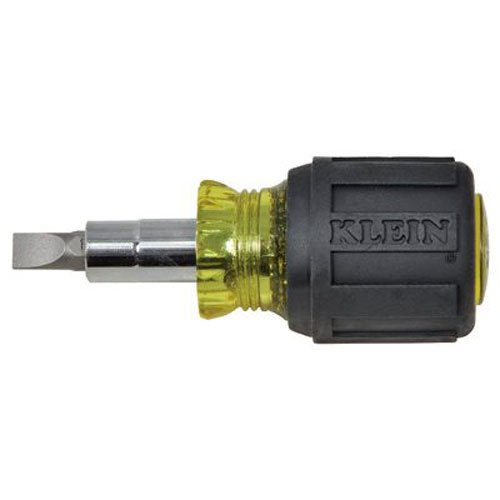 Klein Tools 32561 Std. Stubby Screwdriver/Nut Driver with Cushion Grip. 6 in 1 Tool