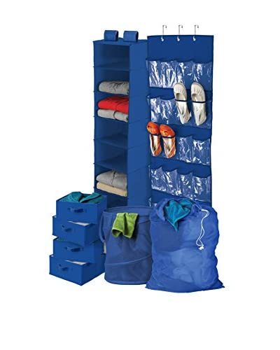 Honey-Can-Do Back to School Home Organization Kit, Blue