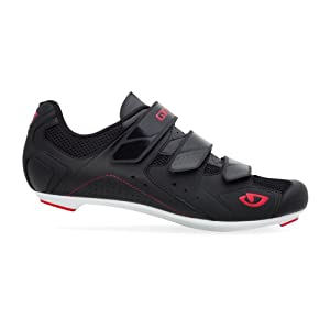Giro 2012 Mens Treble Road Bike Shoes (Black/White/Red - 43)