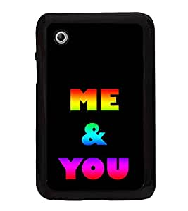 Colourful Me & You 2D Hard Polycarbonate Designer Back Case Cover for Samsung Galaxy Tab 2 :: Samsung Galaxy Tab 2 P3100