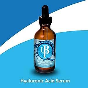 La Beaut Pure Hyaluronic Acid Serum ~ Get Rid of Wrinkles *Lifts & Tightens skin *Super hydrator plumps cells *Wrinkle Filler *Vitamin C & E, MSM, Witch Hazel, Amino Acids, Green Tea, Gota Kola