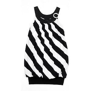 Amy Byer Black & Whited Banded Bottom Dress