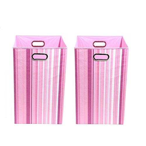 Modern Littles Organization Bundle-2 Laundry Bins, Rose Stripes