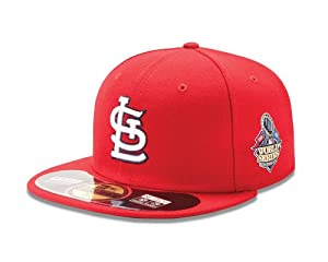 MLB St. Louis Cardinals Youth 2013 World Series AC On Field 59Fifty Cap, Red by New Era