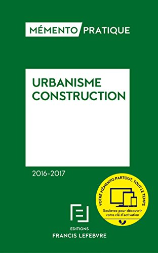 Memento urbanisme construction 2016-2017