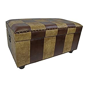 Faux Leather Bench Trunk with Lid