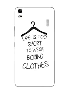 Lenovo A7000 Back Cover - Life Is Too Short - Typography - Designer Printed Hard Shell Case