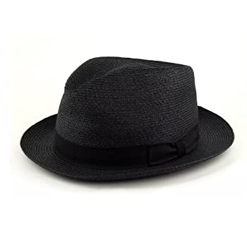 Sewn braid fedora hat