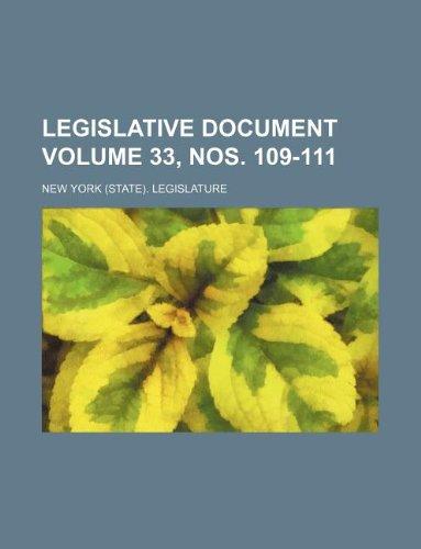 Legislative document Volume 33, nos. 109-111